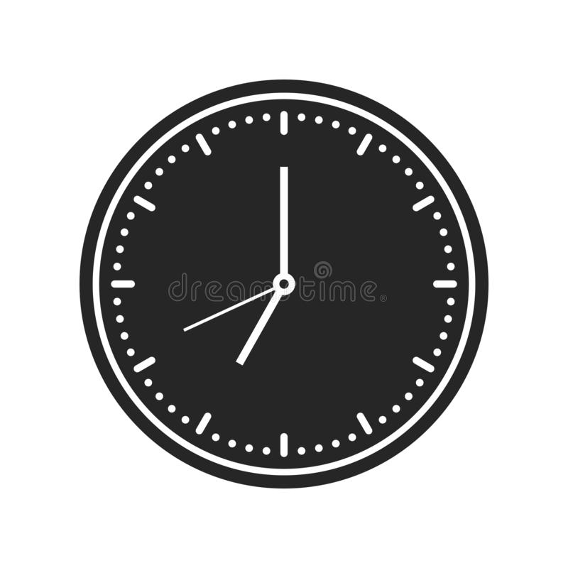 Значок настенных часов на белой предпосылке, для любого случая бесплатная иллюстрация