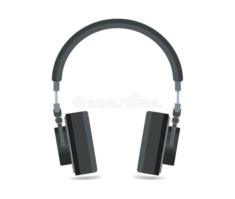 Значок наушников, иллюстрация музыки плоского дизайна ядровая, оборудование eps10 музыки иллюстрация вектора
