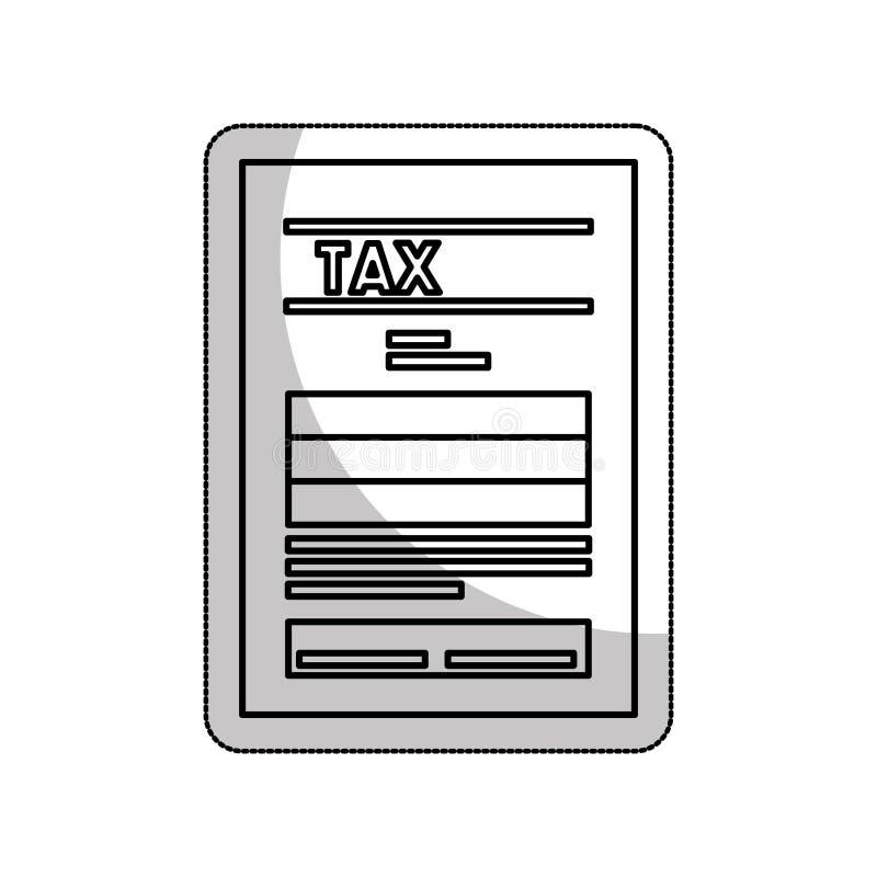 значок налога изолированный фаил документа иллюстрация вектора