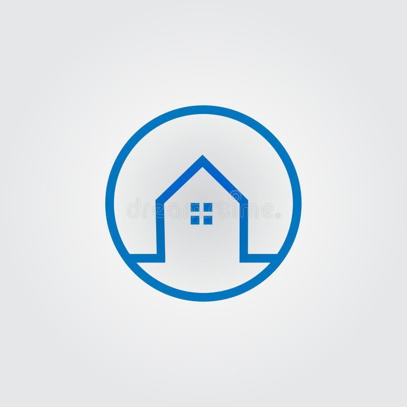 Значок недвижимости, логотип Здание, логотип дома для вашей компании иллюстрация вектора