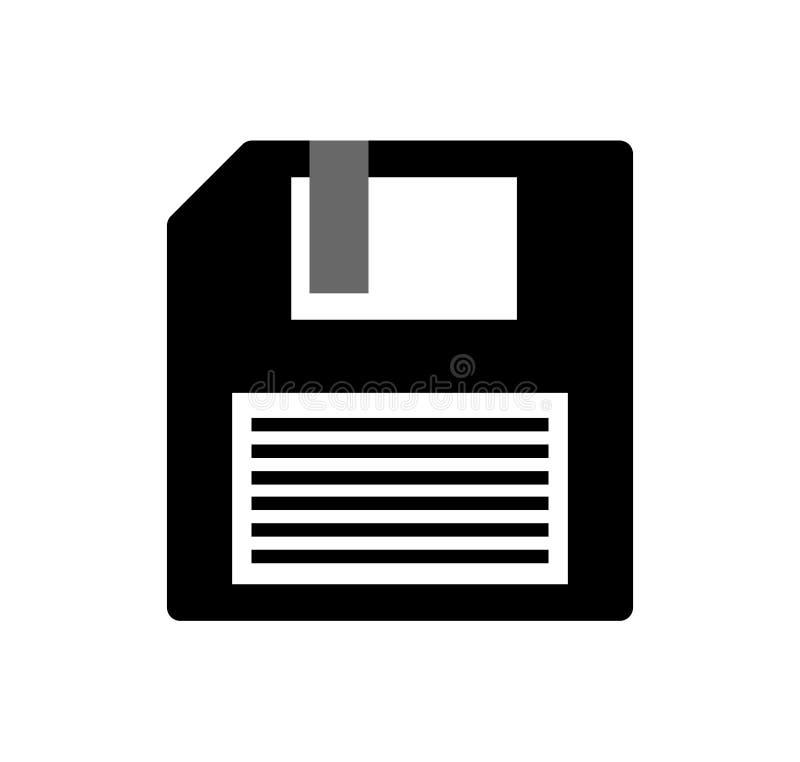 Значок неповоротливого диска на белой предпосылке иллюстрация вектора