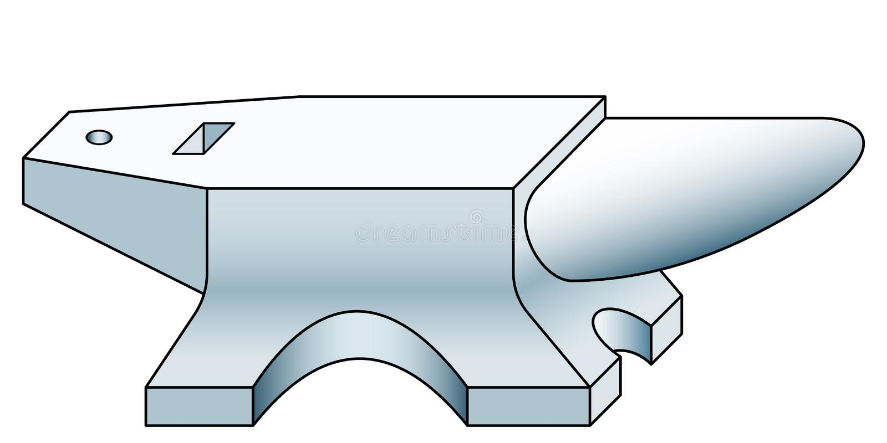 Значок нижнего ковочного штампа иллюстрация вектора