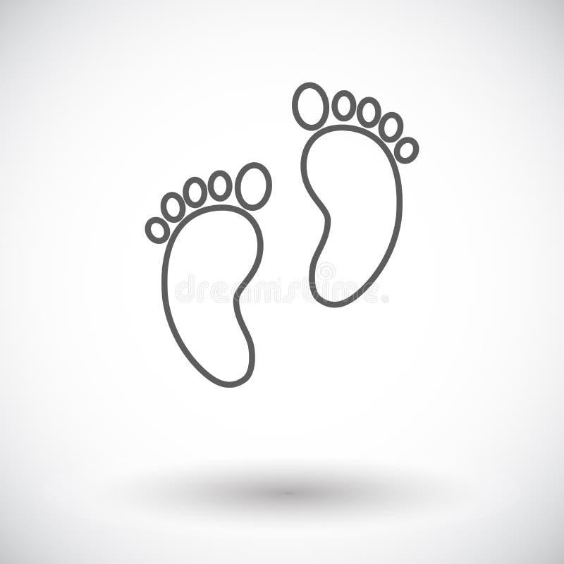 Значок ноги иллюстрация штока