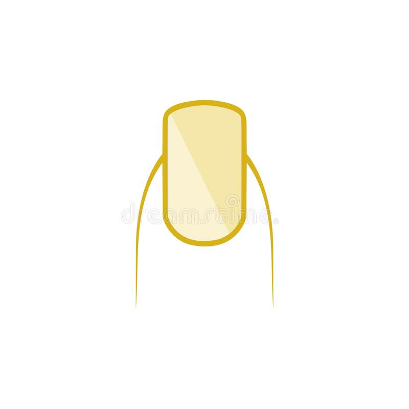 Значок ногтя изолированный на белой предпосылке Квартира логотипа ногтя бесплатная иллюстрация
