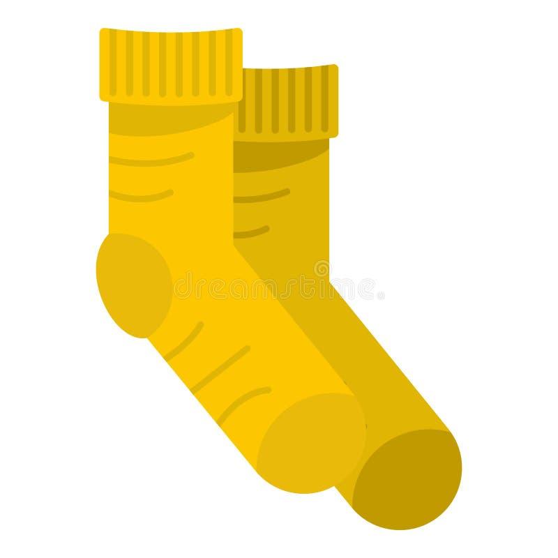 Значок носка, плоский стиль бесплатная иллюстрация