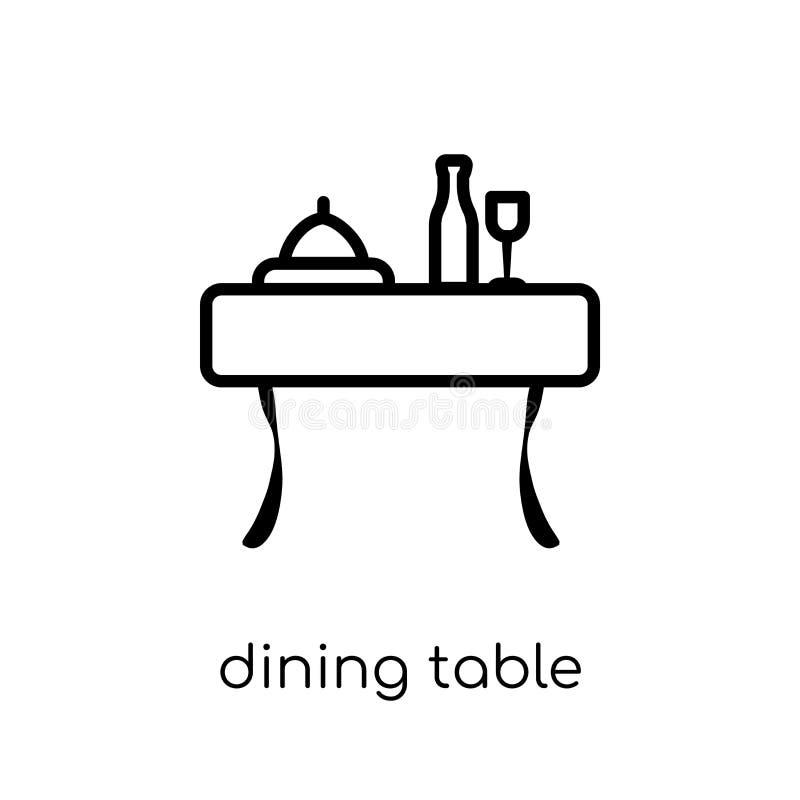 Значок обеденного стола от собрания мебели и домочадца иллюстрация штока