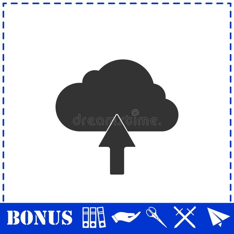 Значок облака загрузки плоско бесплатная иллюстрация