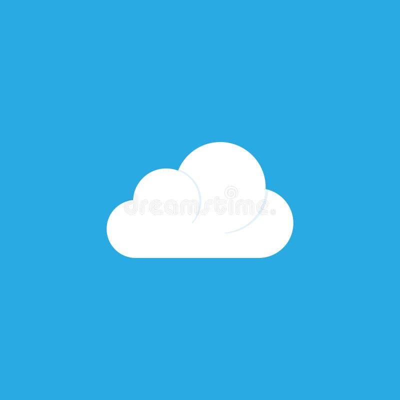 Значок облака плоский иллюстрация вектора