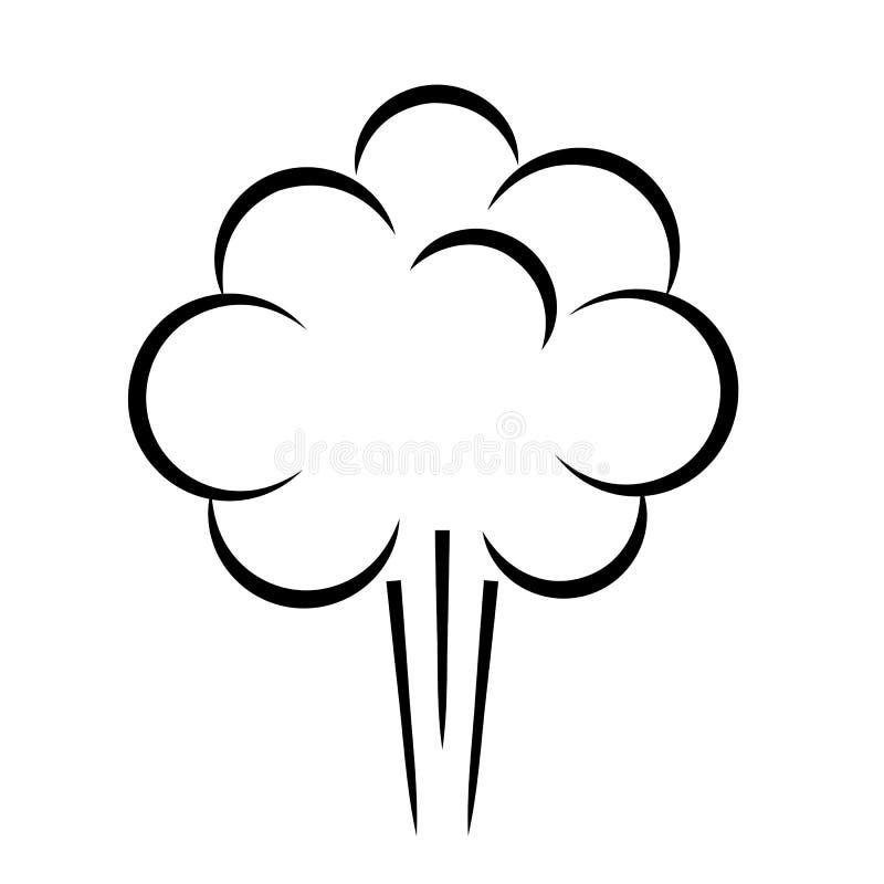 Значок облака слойки дыма бесплатная иллюстрация