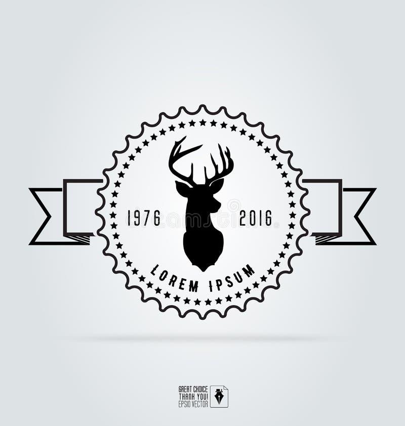 Значок обозначает логотип битника Голова оленей иллюстрации вектора иллюстрация вектора