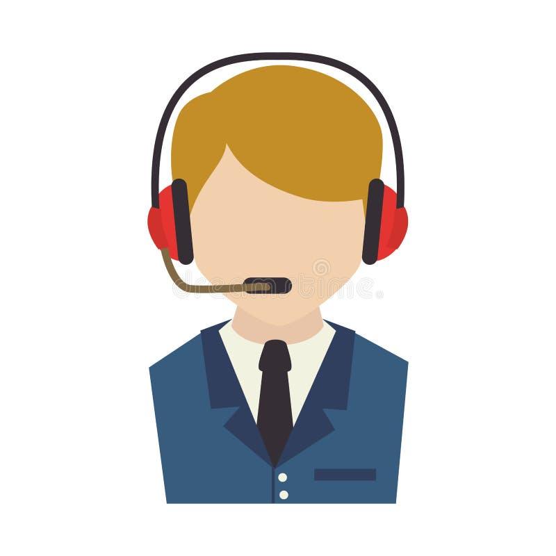 Значок обслуживания агента центра телефонного обслуживания бесплатная иллюстрация