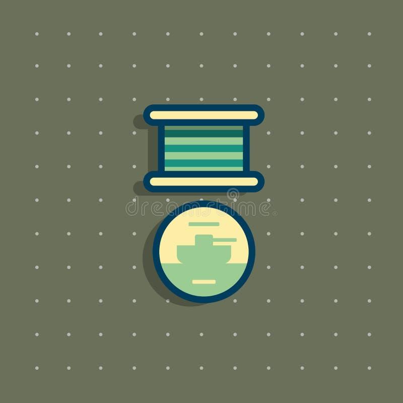 Значок общественного коммеморативного медали награды иллюстрация вектора