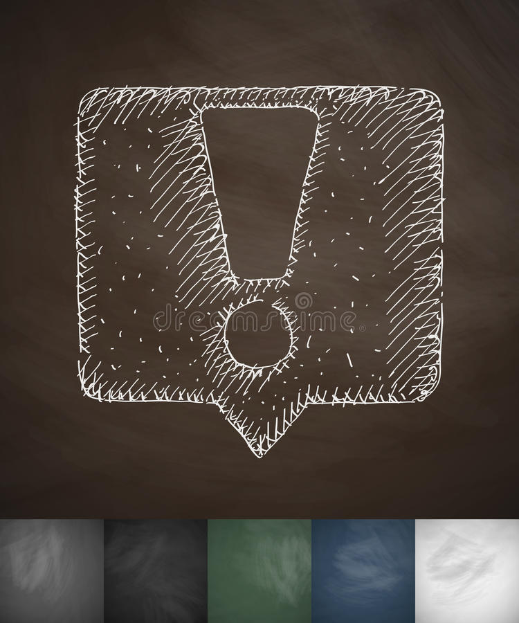Значок объявления Нарисованная рукой иллюстрация вектора иллюстрация штока