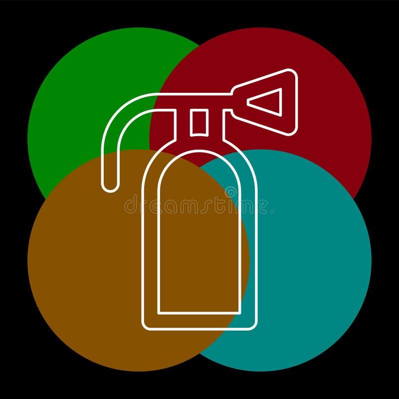 Значок огнетушителя - предохранение от символа безопасности иллюстрация штока