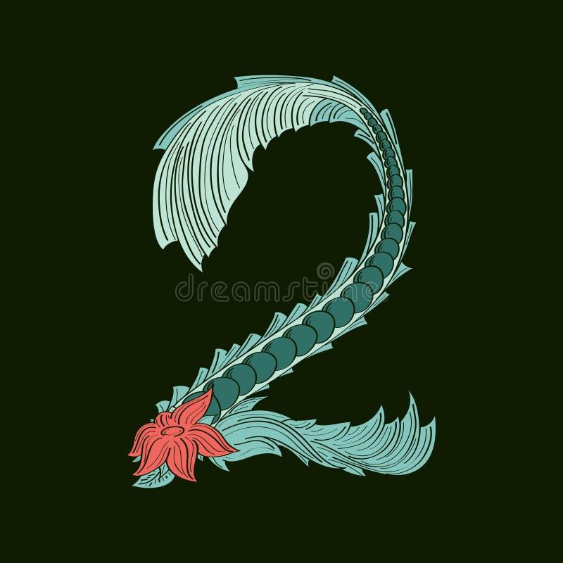 Значок логотипа абстрактный 2 в голубом тропическом стиле бесплатная иллюстрация