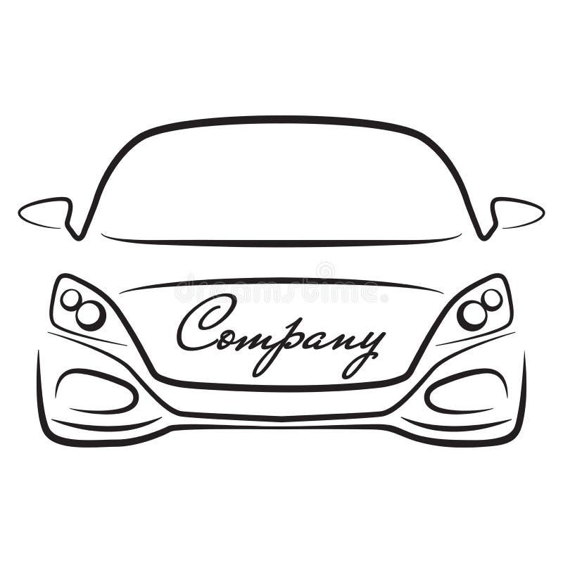 Значок логотипа компании автоматического торговца корабля sihlouette автомобиля иллюстрация вектора