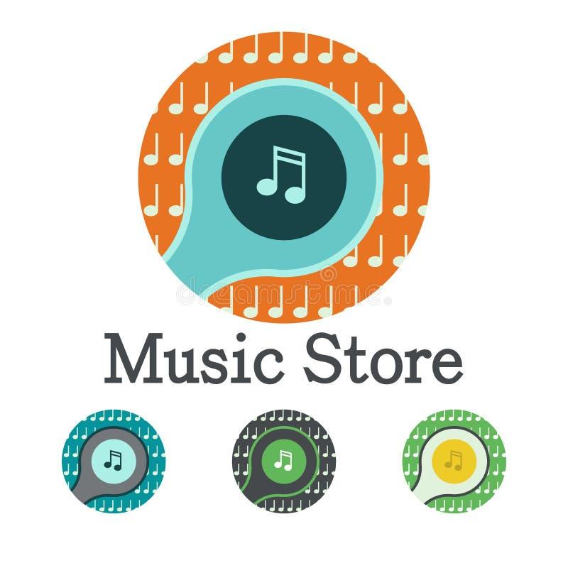 Значок логотипа музыки стоковые фотографии rf