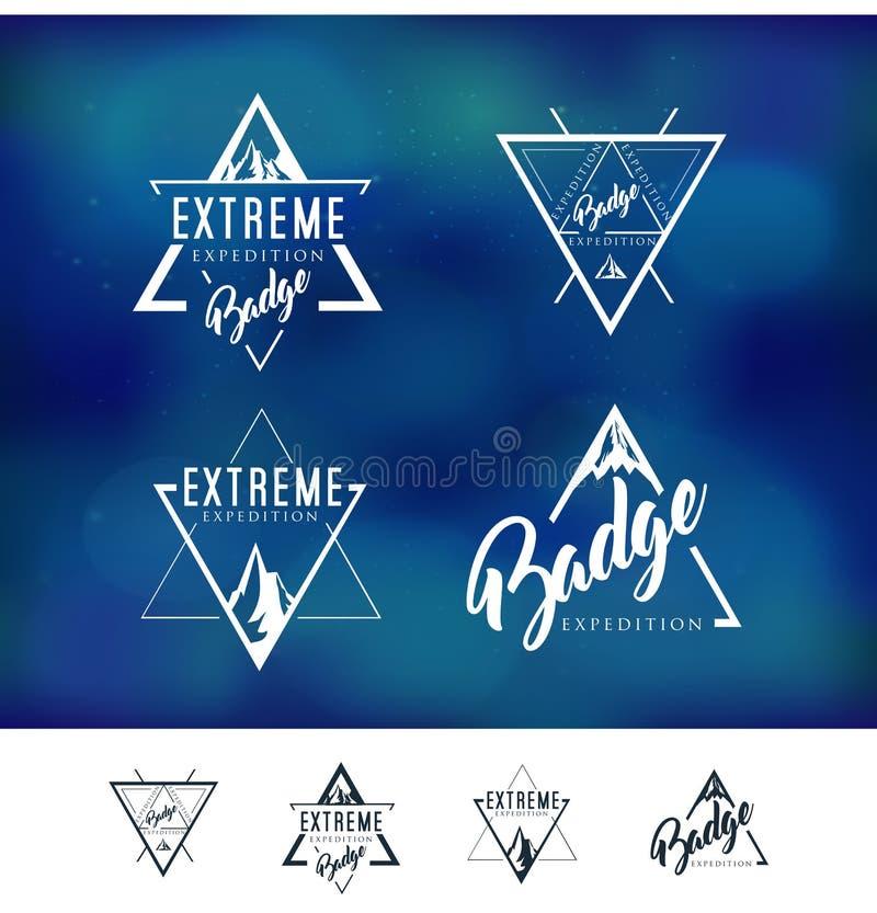 Значок логотипа треугольника горы бесплатная иллюстрация