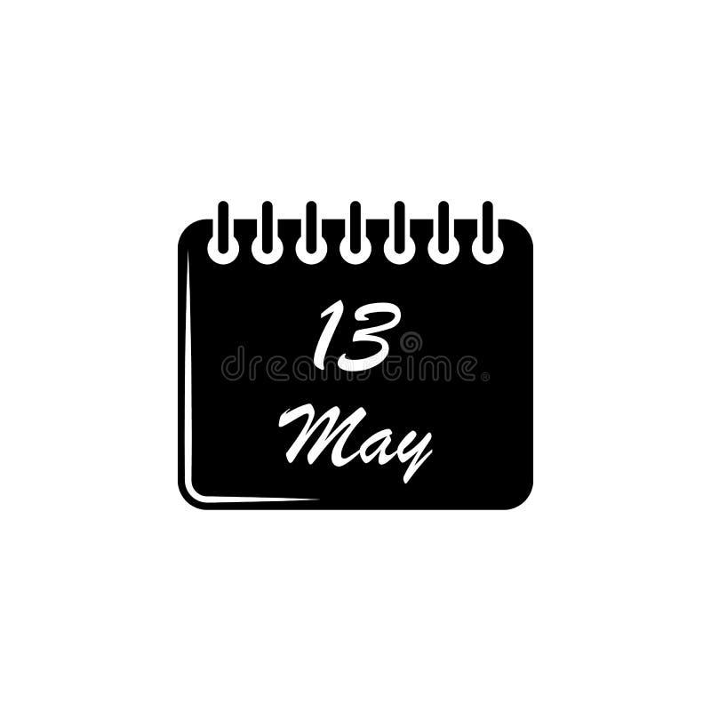 значок 13-ое мая календаря Элемент значка дня матерей Наградной качественный значок графического дизайна Знаки и значок собрания  бесплатная иллюстрация