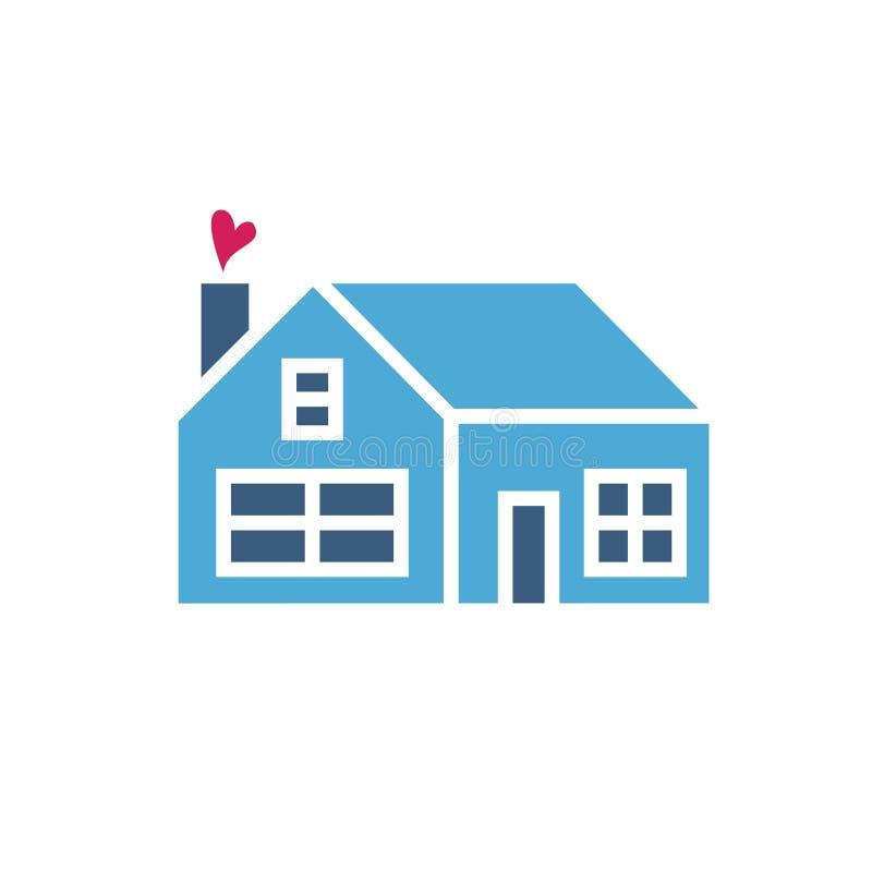 Значок дома с сердцем иллюстрация вектора