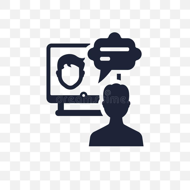 Значок онлайн курса прозрачный Онлайн дизайн символа курса от иллюстрация вектора