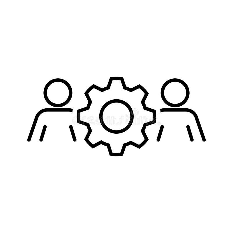 Значок организации рабочей силы, иллюстрация вектора иллюстрация вектора