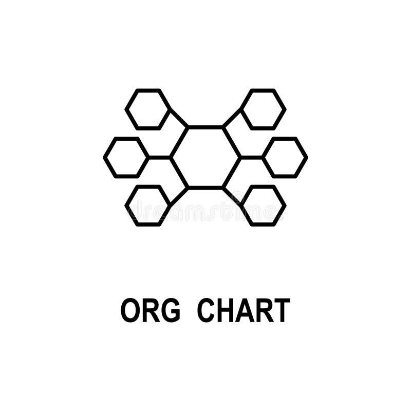 Значок организационной структуры Элемент значка структуры дела для мобильных приложений концепции и сети Тонкая линия значок орга бесплатная иллюстрация