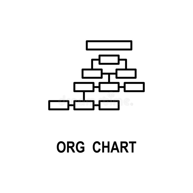 Значок организационной структуры Элемент значка структуры дела для мобильных приложений концепции и сети Тонкая линия значок орга иллюстрация штока