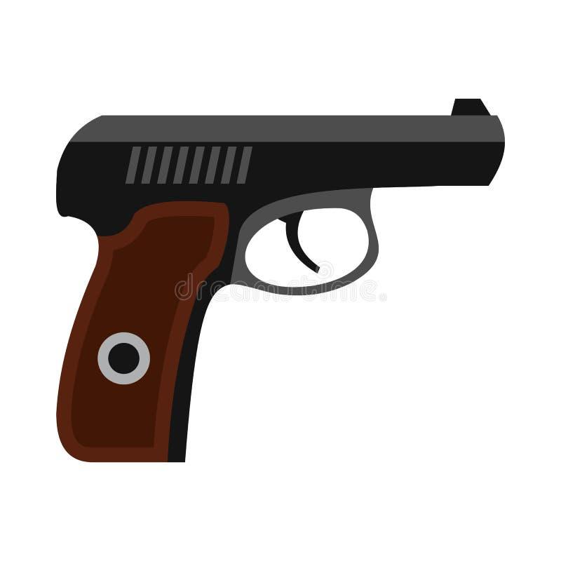 Значок оружия в плоском стиле иллюстрация штока