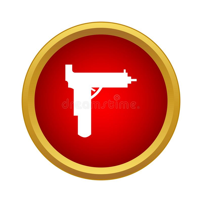 Значок оружия в простом стиле иллюстрация вектора