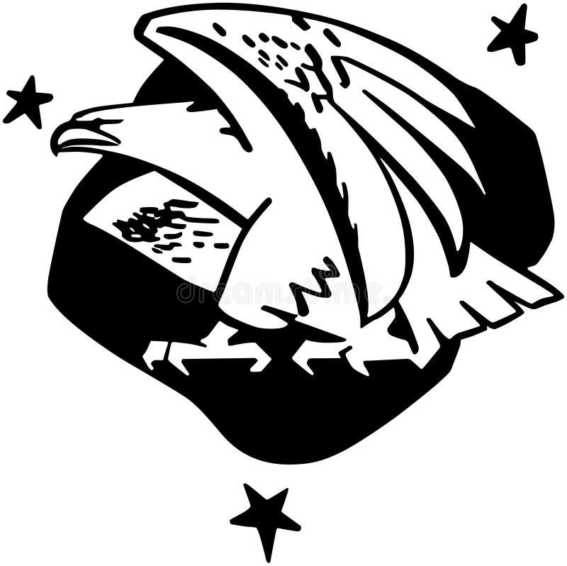 Значок орла иллюстрация вектора
