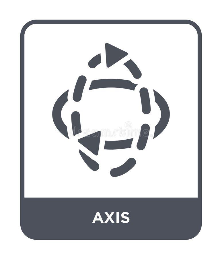 значок оси в ультрамодном стиле дизайна значок оси изолированный на белой предпосылке символ значка вектора оси простой и совреме иллюстрация штока