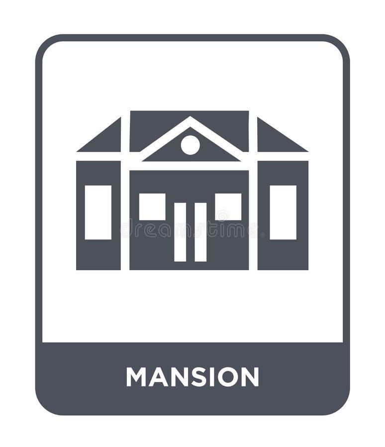 значок особняка в ультрамодном стиле дизайна значок особняка изолированный на белой предпосылке символ значка вектора особняка пр иллюстрация вектора