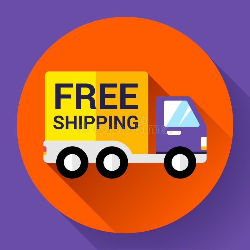 Значок доставки автомобиля Голодает и концепция бесплатной доставки иллюстрация вектора