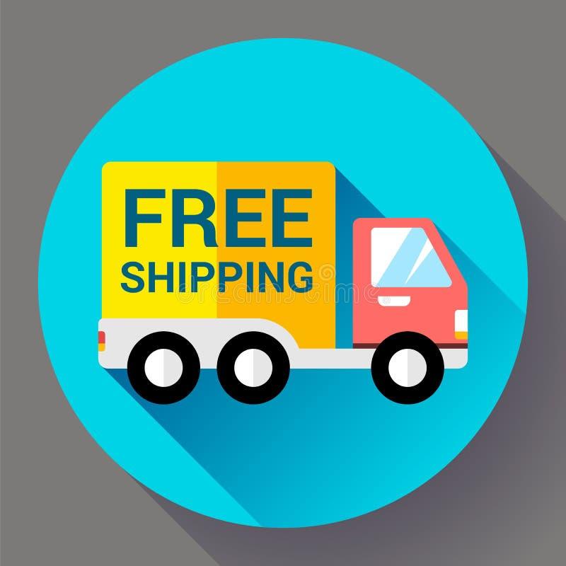 Значок доставки автомобиля Голодает и концепция бесплатной доставки иллюстрация штока