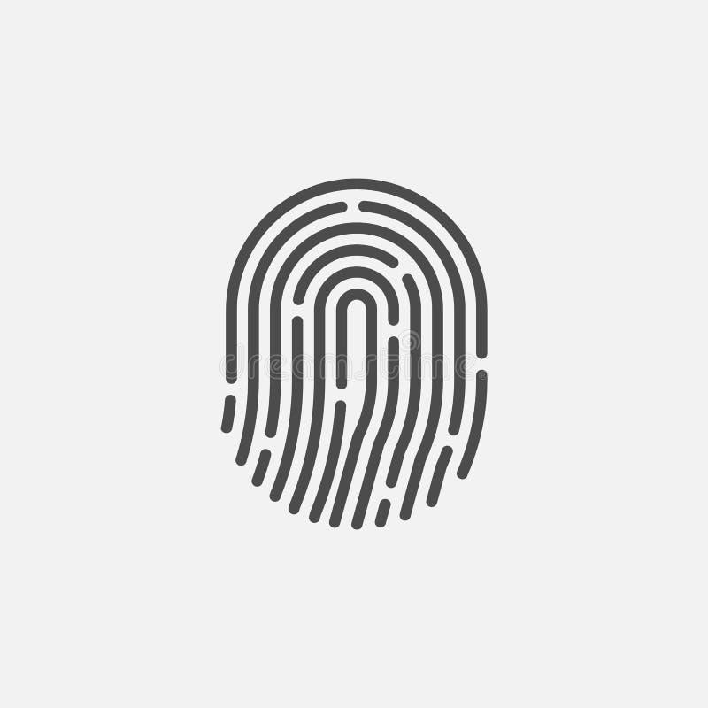 Значок отпечатка пальцев изолированный на белой предпосылке r бесплатная иллюстрация