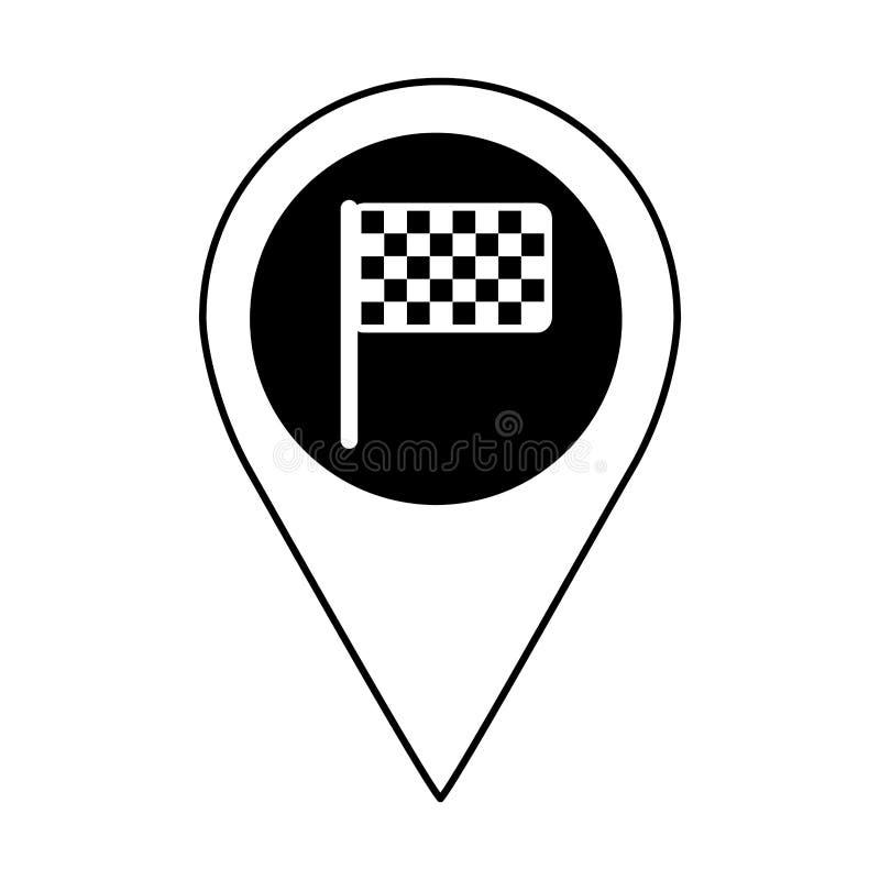 значок отделки изолированный флагом иллюстрация вектора