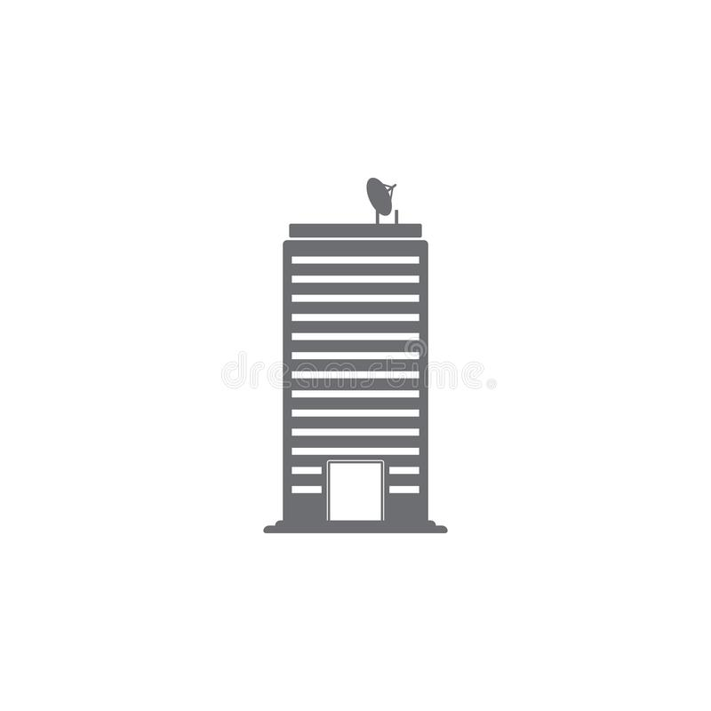 Значок офисного здания Простая иллюстрация элемента шаблон дизайна символа офисного здания Смогите быть использовано для сети и ч стоковое изображение