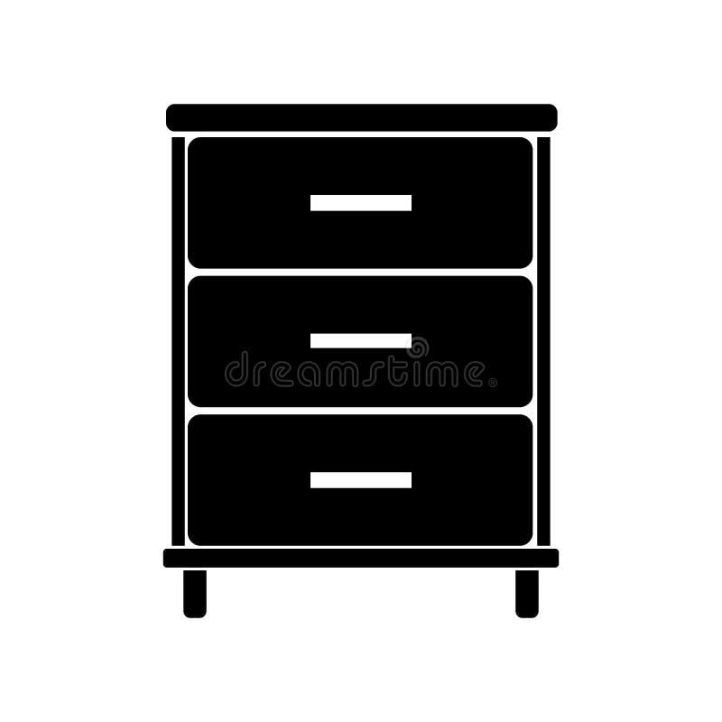 Значок офисной мебели стоковая фотография rf