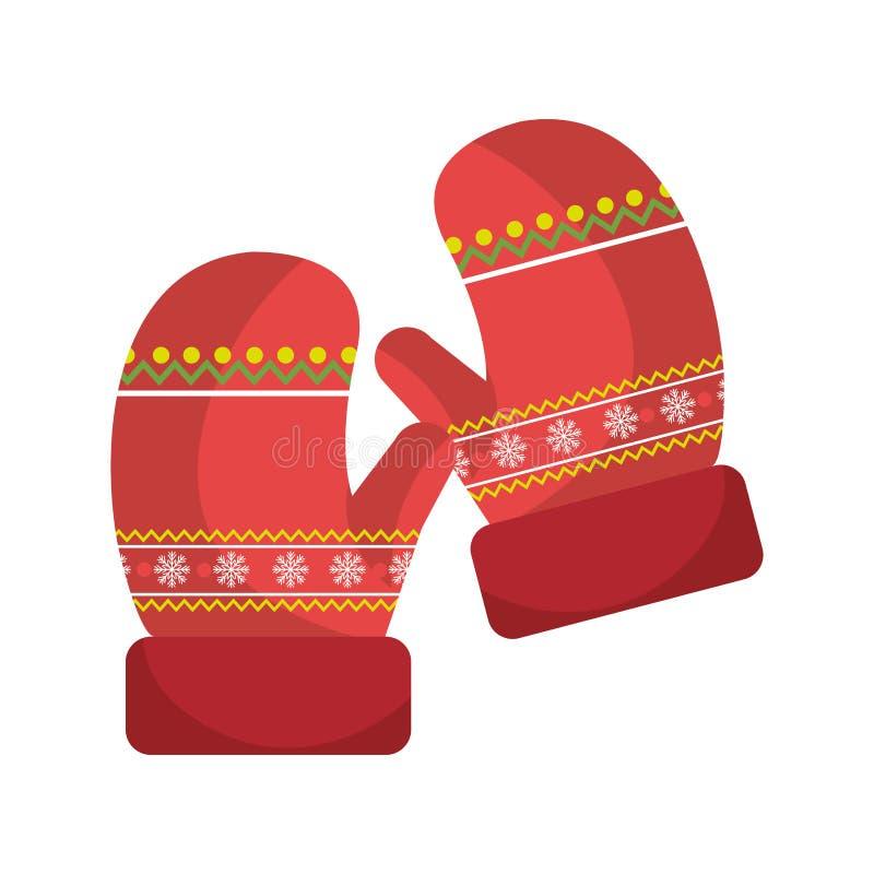 Значок одежд перчаток зимы иллюстрация штока