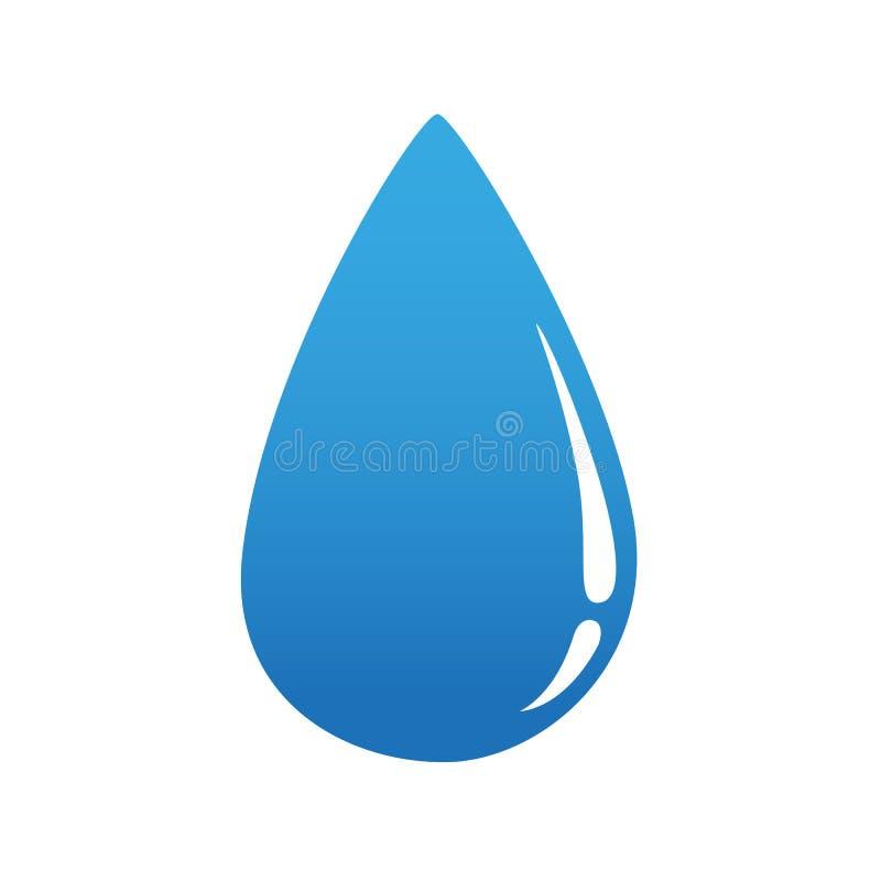 Значок падения воды изолированный на белой предпосылке иллюстрация штока