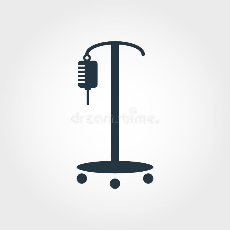 Значок падения встречный Линия дизайн значка падения дизайна значка стиля встречный от собрания медицины пиктограмма изолированна иллюстрация штока