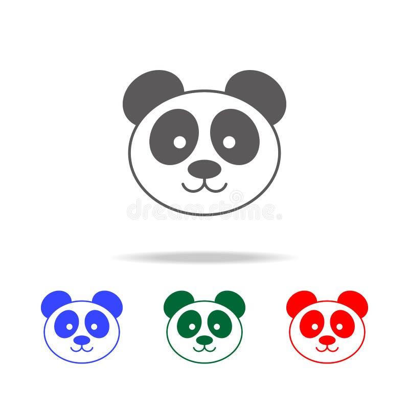 Значок панды Элементы значков китайской культуры multi покрашенных Наградной качественный значок графического дизайна Простой зна иллюстрация вектора