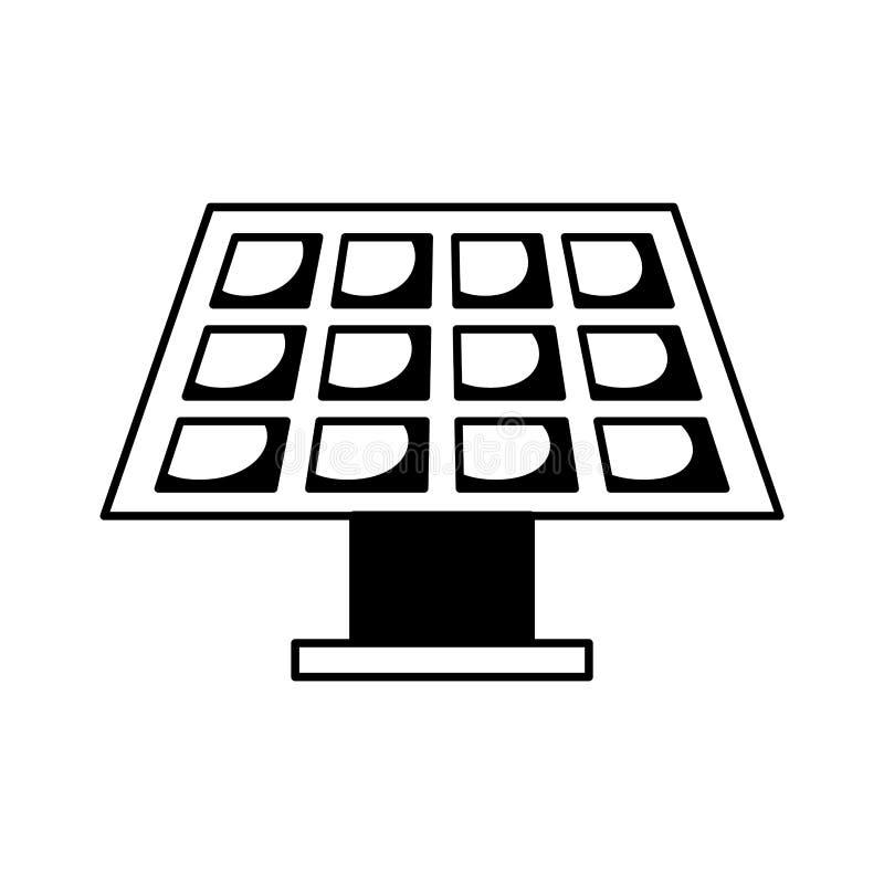 Значок панели солнечной энергии иллюстрация вектора