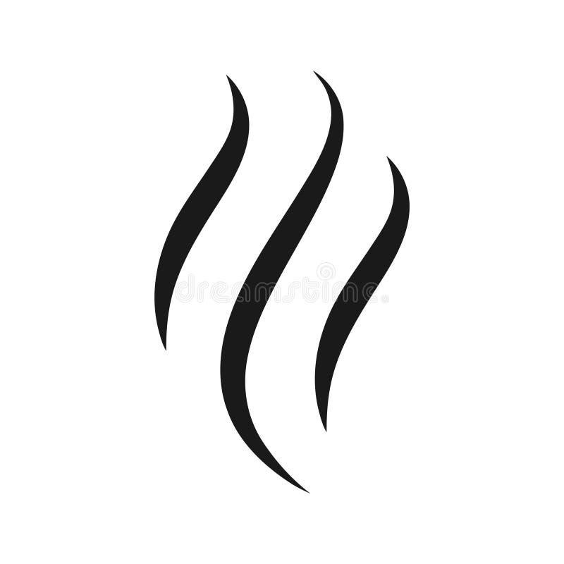 Значок пара или ароматности иллюстрация вектора