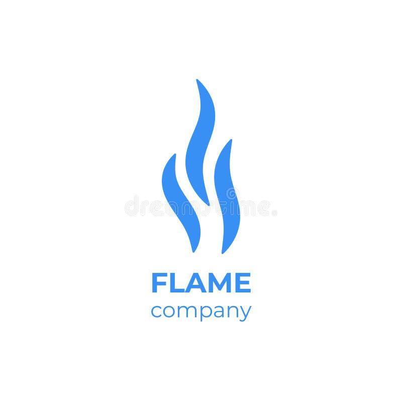 Значок пара Плоская пиктограмма запаха символа, кофе и чая испарения дыма и ароматности голубая Запах и пар вектора бесплатная иллюстрация