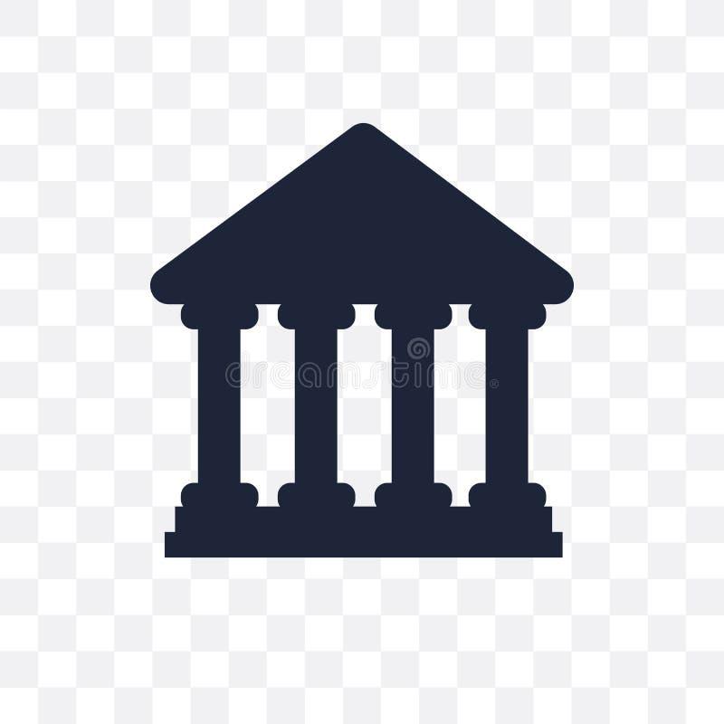 Значок Парфенона прозрачный Дизайн символа Парфенона от Archite иллюстрация штока