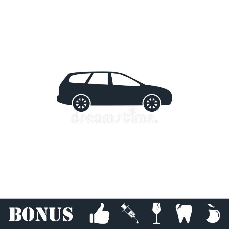 Значок пассажирского автомобиля плоско иллюстрация вектора