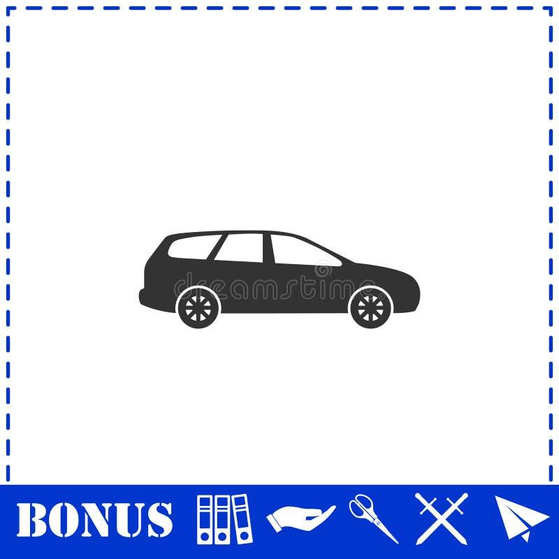 Значок пассажирского автомобиля плоско иллюстрация штока