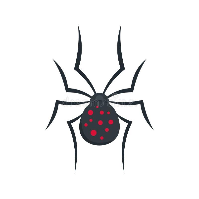 Значок паука, плоский стиль бесплатная иллюстрация